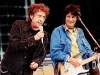 Rock legend Bob Dylan is joined by guitarist Ronnie Wood as they play to an estimated 150,000 audience in Hyde park 29 June in the Mastercard Monsters of Music festival which is set to last all day and goes on to feature such legendary rock icons as Eric Clapton and Pete Townshend and Roger Daltrey of The Who.